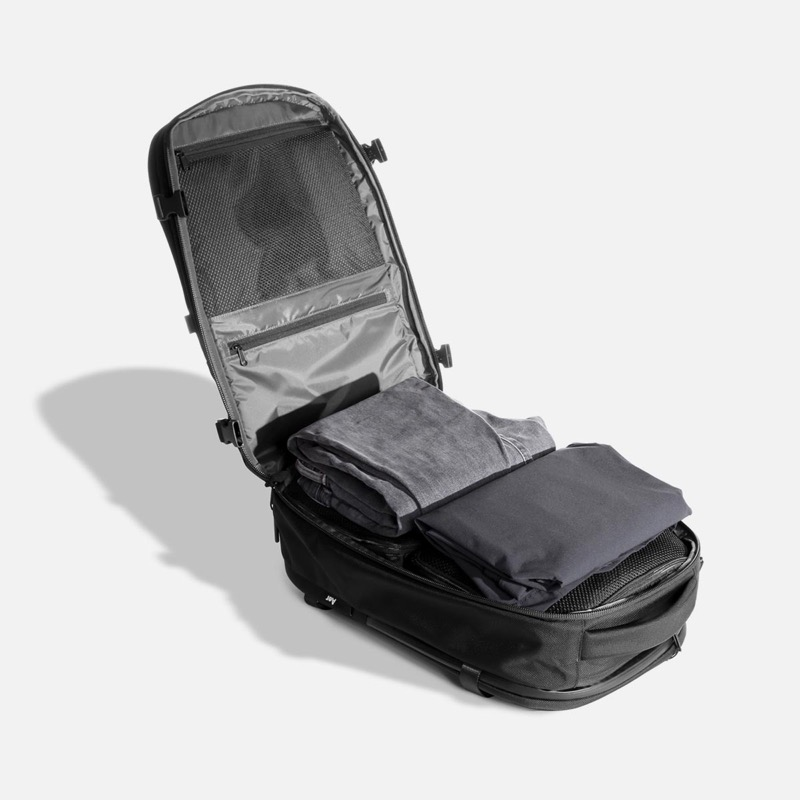 Aer Travel Pack 2.0 Maximum capacity for carry-on for most airlines… fits as much as any carry-on bag out there.