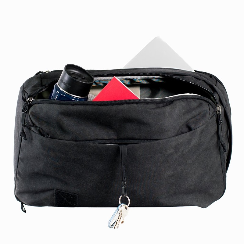 Evergoods CPL 24 Backpack Simple organization, all oriented towards one side of the bag for easy access.