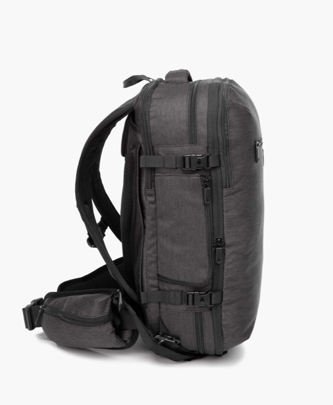 Tortuga Setout Divide Travel Backpack And here's the bag compressed for daily carry.