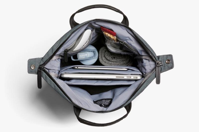 Bellroy Duotote Backpack Unbelievable internal organization in this bag. Very killer.