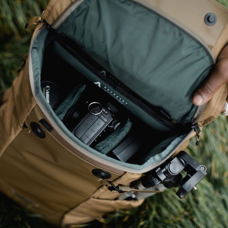 Boundary Supply Errant Backpack Removable camera insert, easy access from the top of the bag.