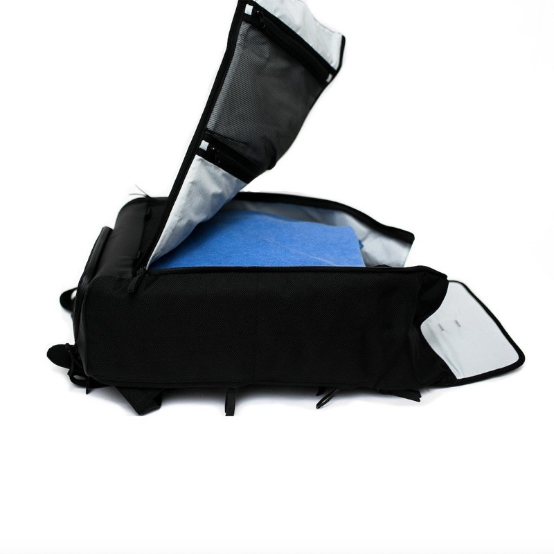 Dayfarer Backpack Opens clamshell… easy to load and unload, see what's inside, or access the bag just from the top.