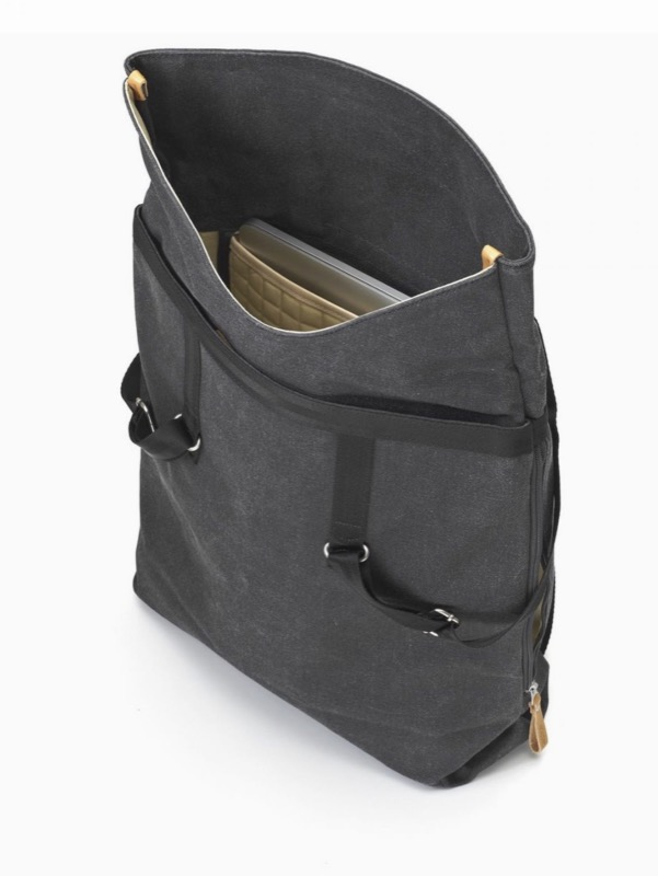 Qwstion Day Tote Backpack Surprisingly large capacity inside the bag. Nice laptop compartment and subtle organization.