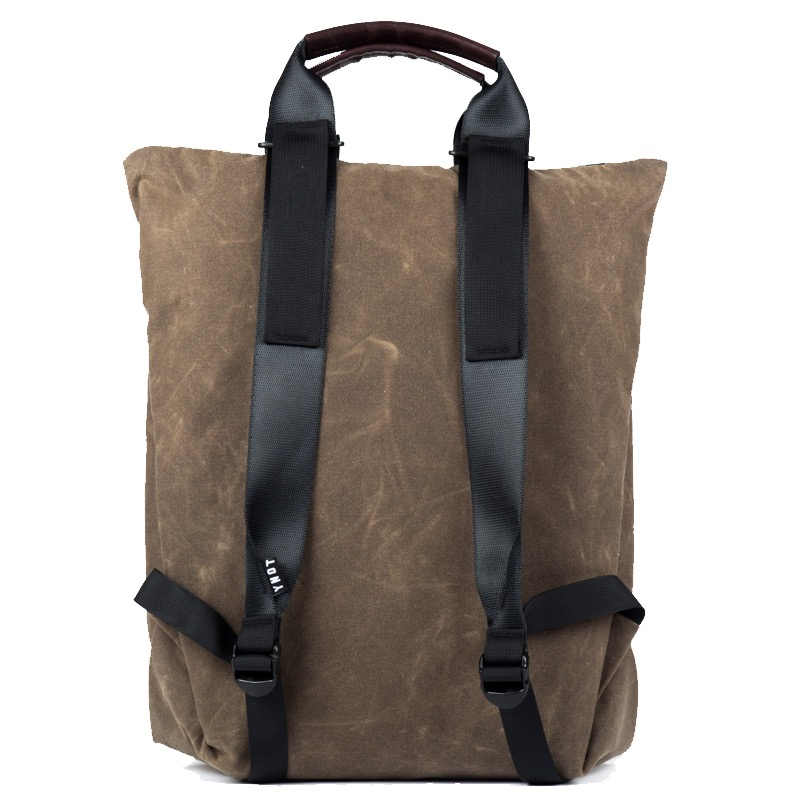 YNOT Split Shift Slimline Backpack Tote Simple straps and handle system for multiple ways of carry.