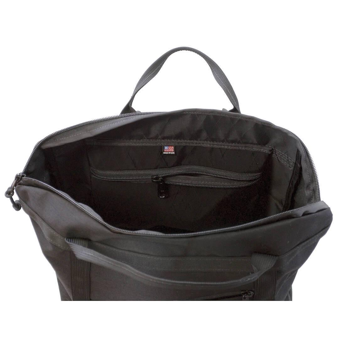 Flowfold Denizen Packable Backpack Internal zipped pocket for a little extra organization off the bottom of the bag.