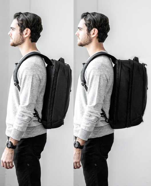 Knack Pack Business Travel Backpack Expandable and collapsible so you can use one bag for travel and daily carry.