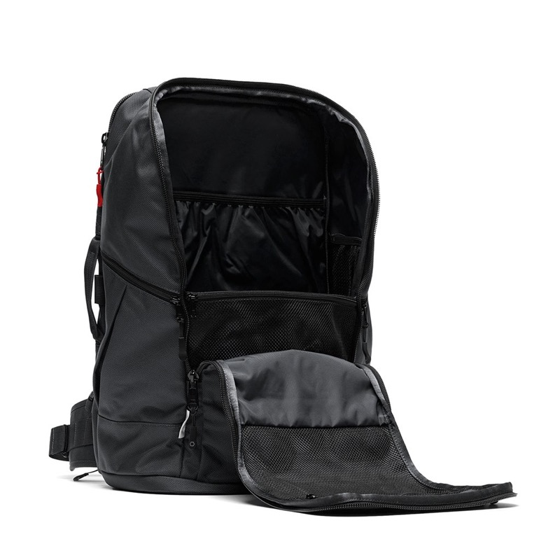 DSPTCH Travel Pack Large capacity carry-on travel backpack with some very thoughtful organization features.