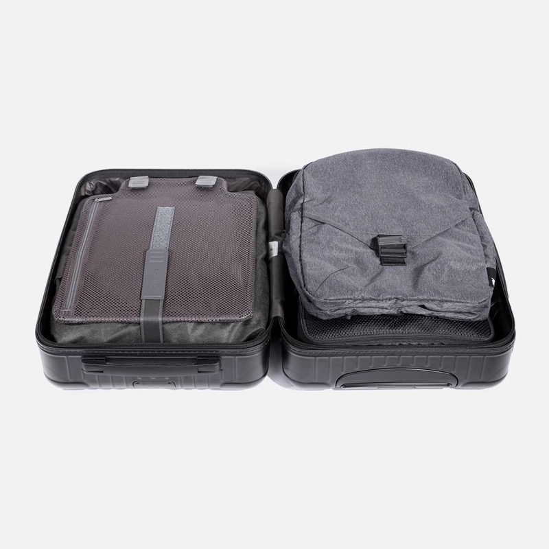 Aer Go Packable Backpack Lightweight and thin, it packs flat into your travel gear